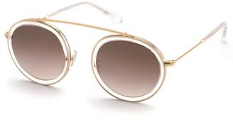 Krewe Conti Gradient Aviator Sunglasses