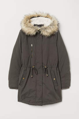 H&M Padded parka with a hood