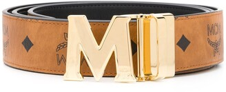 MCM M-buckle leather belt