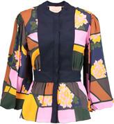 Roksanda Elcet printed silk-crepe blouse