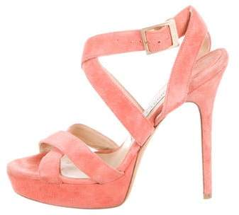 Jimmy Choo Suede Ankle Strap Sandals