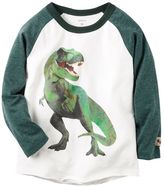 Carter's Toddler Boy Raglan Dinosaur T-Rex Graphic Tee