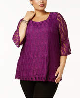 NY Collection Plus Size Lace Top