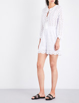 The Kooples Broderie Anglaise cotton playsuit