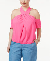 Rachel Roy Trendy Plus Size Twist-Front Top