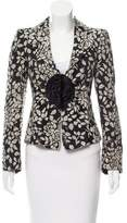 Armani Collezioni Patterned Wool-Blend Blazer