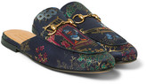 Gucci Disney Jacquard Backless Loafers