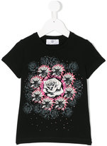 Versace rose print T-shirt