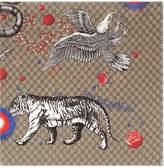 Gucci Space Animals print modal silk shawl