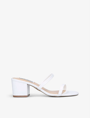 Steve Madden Open Toe Barely There faux-leather sandals
