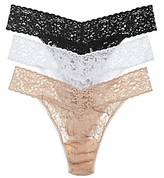 Hanky Panky Original-Rise Thongs, Set of 3