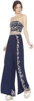 Alice + Olivia Larissa Embellished Open Pleat Pant
