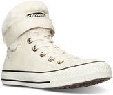 Converse Chuck Taylor Leather & Faux Fur High-Top Casual Sneakers from Finish Line