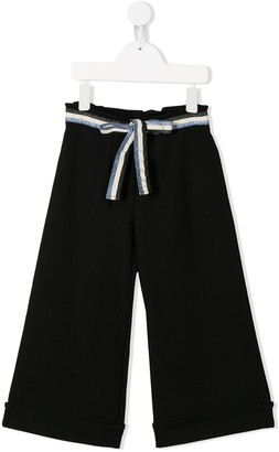 Mariuccia Milano Kids Striped Ribbon Trousers