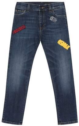 Dolce & Gabbana Embellished straight jeans