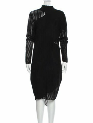 Opening Ceremony Turtleneck Midi Length Dress w/ Tags Black