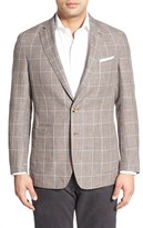 Peter Millar 'Sahara' Windowpane Wool & Linen Sport Coat