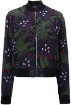 Markus Lupfer leaf print bomber jacket - women - Silk - M