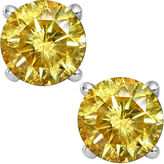 JCPenney FINE JEWELRY 2 CT. T.W. Color-Enhanced Yellow Diamond Stud Earrings
