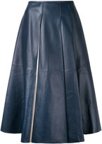 Jil Sander leather midi skirt