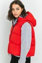 Light Before Dark Hooded Sleeveless Puffer Jacket