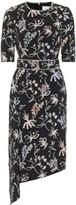 Peter Pilotto Asymmetric floral midi dress