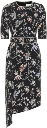 Peter Pilotto Asymmetric floral midi dress