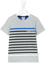 Karl Lagerfeld striped T-shirt - kids - Cotton - 8 yrs