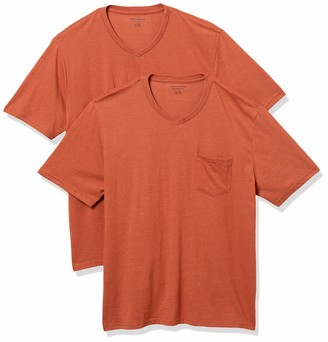 Amazon Essentials Men's 2-Pack Regular-Fit V-Neck Pocket T-Shirt