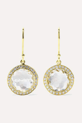 Ippolita Lollipop Mini 18-karat Gold, Quartz And Diamond Earrings