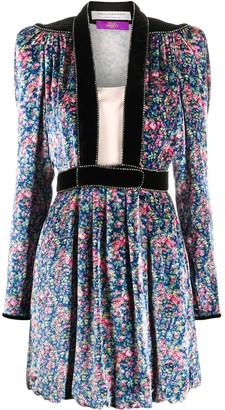 Philosophy di Lorenzo Serafini Pleated Velvet Mini Dress