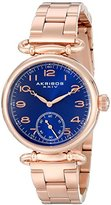 Akribos XXIV Women's AK806RGBU Quartz Movement Watch with Blue Dial and Rose Gold Stainless Steel Bracelet