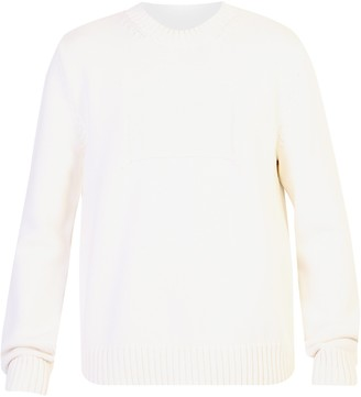 Maison Margiela Patch Detailed Knitted Pullover Jumper