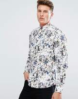 Solid Floral Printed Shirt