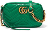 Gucci Gg Marmont Camera Mini Quilted Leather Shoulder Bag - Emerald