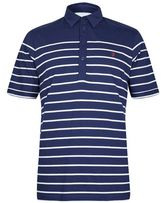 Burton Mens Farah Navy Short Sleeve Striped Polo Shirt*
