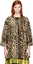 Junya Watanabe Beige and Brown Leopard Coat