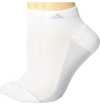 adidas Superlite Stripe II Low Cut Socks 3-Pack (White/Light Onix/Clear Onix/Clear Grey) Men's Crew Cut Socks Shoes