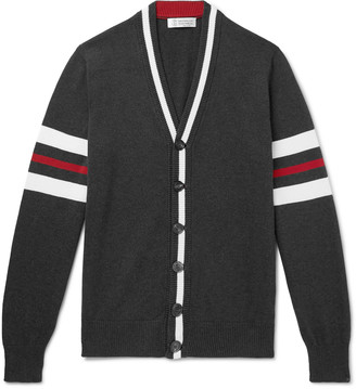 Brunello Cucinelli Slim-Fit Striped Cotton Cardigan