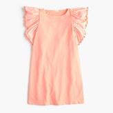 J.Crew Girls' flutter-sleeve pom-pom dress