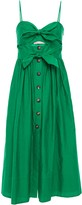 Kate Spade Cutout Knotted Cotton And Silk-blend Midi Dress