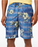 Tommy Bahama Men's Drawstring Baja House of Plaid Sun Protection 30 Swim Trunks