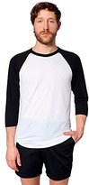 American Apparel Men's Unisex Poly-Cotton Raglan T-Shirt