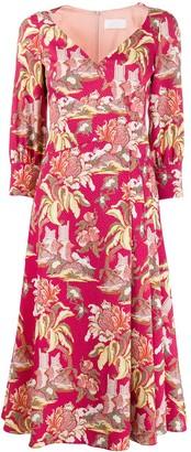 Peter Pilotto Floral Print Flared Dress
