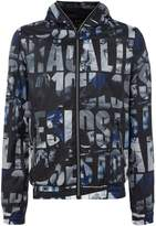 GUESS Men's All-over printed zip-up hoodied jacket