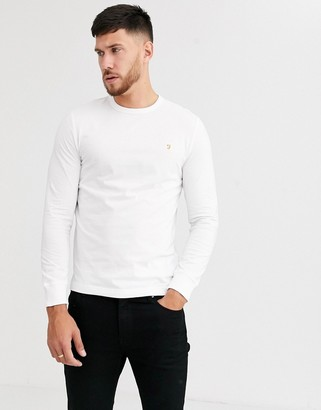Farah Worth long sleeve t-shirt in white