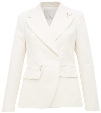 Tibi Single-breasted Crepe Jacket - Womens - Ivory