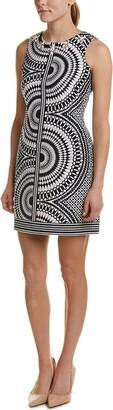Taylor Dresses Women's Kalediscope Print Stretch Hopsak Beaded Neck Dress