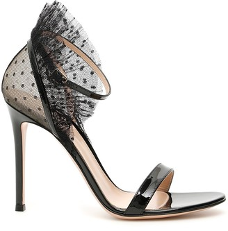 Gianvito Rossi Heeled Tulle Strap Sandals