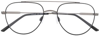 Calvin Klein Matte Finish Aviator Frame Glasses